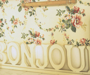 bonjour and flowers image