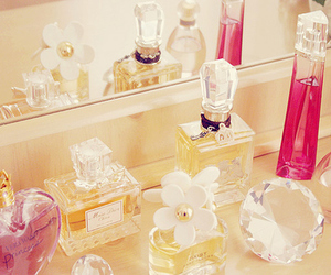 perfume, pink, and girly image