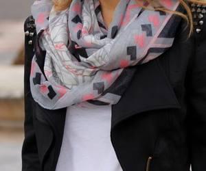 girl, fashion, and scarf image