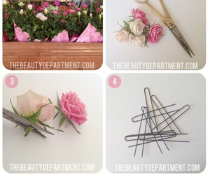 flowers, hair, and diy image