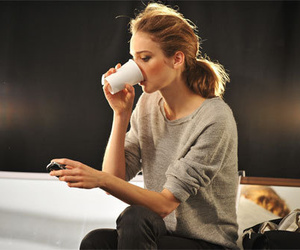 coffee, drink, and girl image