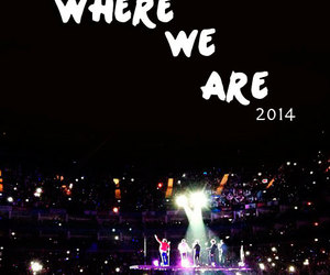 one direction, where we are, and 2014 image