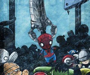 spiderman, toys, and Hulk image