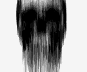 black and white, skull, and caveira image