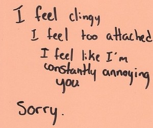 quotes, sorry, and clingy image