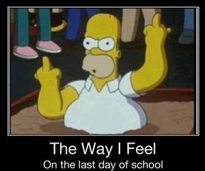 school, funny, and simpsons image