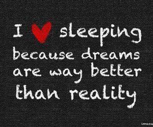 Dream, reality, and sleep image