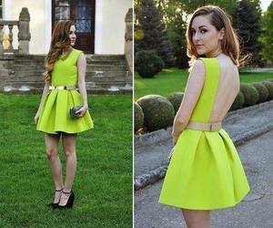 dress, green, and yellow image