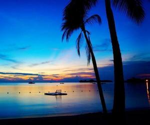 beach, sunset, and jamaica image