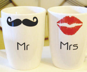 cups, mustache, and cute image