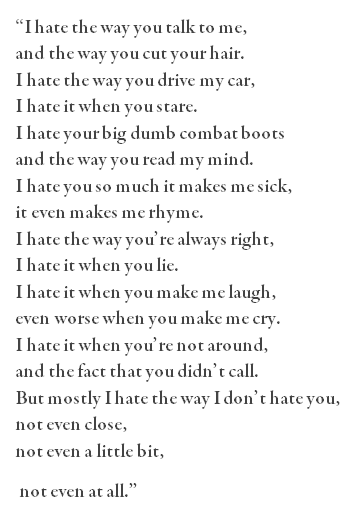 10 Things I Hate About You Poem Tumblr On We Heart It