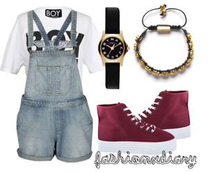 dungarees, fashion, and girl image