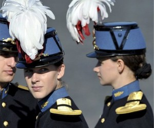 military, women in uniform, and french army image