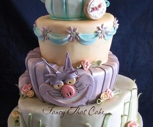 cake and alice in wonderland image