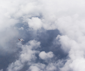 air, clouds, and flight image