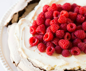 cake, raspberry, and dessert image
