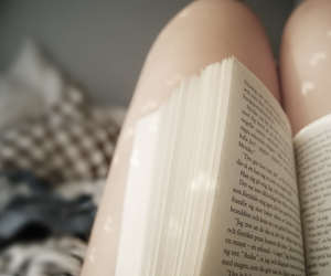 book, heart, and legs image