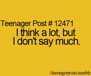 say, think, and teenager post image