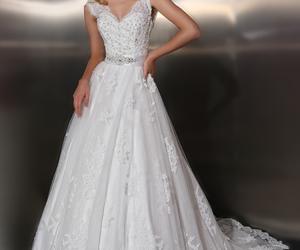 white dress wedding bride image