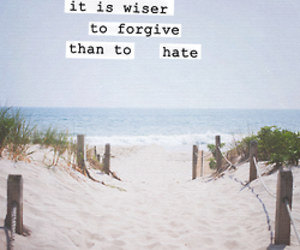 beach, forgive, and hate image