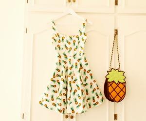 dress, fruit, and fashion image