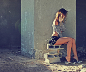 girl, sexy, and alone image