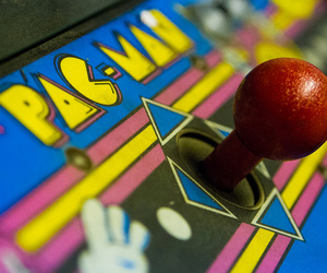 joystick, video game, and arcade game image