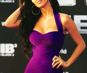 dress, nicole scherzinger, and purple image