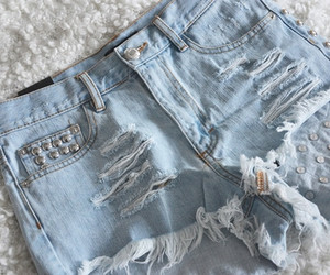 fashion, shorts, and blue image
