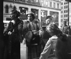 1950s, street photography, and black and white image