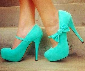 color, heels, and love image