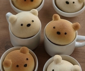 cute, bear, and food image