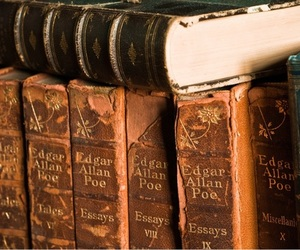 books and edgar allan poe image
