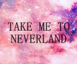 neverland, galaxy, and pink image