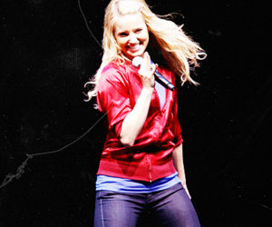 blonde, girl, and glee image