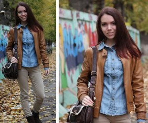 biker jacket, clothing, and outfit of the day image