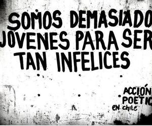 young, accion poetica, and text image