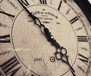 clock, girly, and love letters image