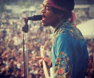 hendrix, seventies, and love image