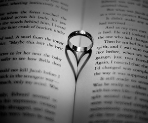 book, heart, and ring image