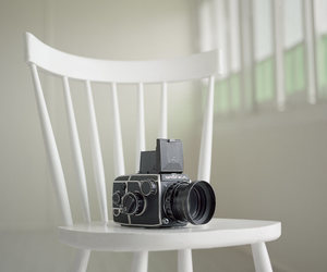 camera, vintage, and white image