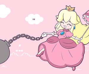 mario, princess, and princess peach image