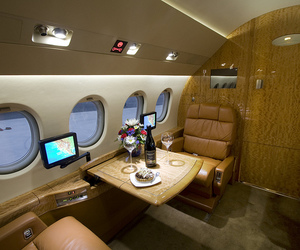 airplane, luxury, and plane image