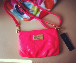 bag, bright, and bright pink image