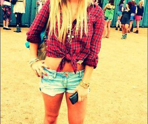 blonde, plaid, and pretty image