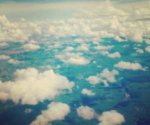clouds, beautiful, and blue image