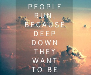 quote, run, and people image