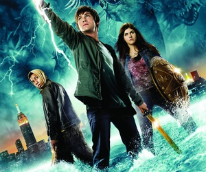 percy jackson, logan lerman, and annabeth chase image