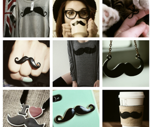 mustache, moustache, and ring image