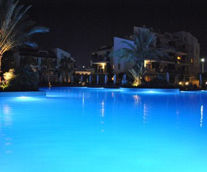 beautiful, blue, and hotel image